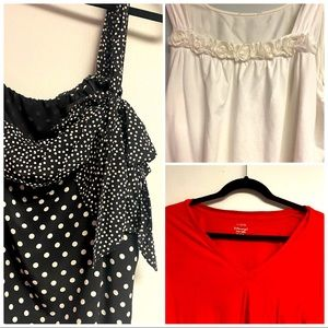 Bundle of 3 tops J crew size 12